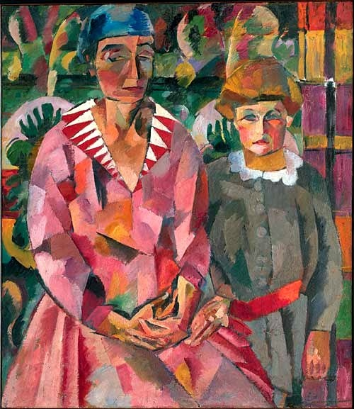 1915 Portrait of the Artist's Wife and Daughter Lentulov, Aristarkh (1882-1943) was a major Russian avant-garde artist of Cubist orientation who also worked on set designs for the theatre. He lived in Moscow from 1909, and he was one of the founders of the avant-garde exhibiting association of artists, the Jack of Diamonds group. This group remained active until its dissolution in 1916.