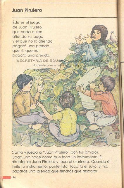Libros de Primaria de los 80's: Juan Pirulero (Mi libro de segundo Parte 1)