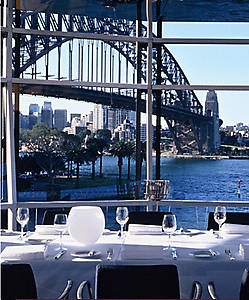 Quay Restaurant Sydney - the best restaurant in Australasia for the third year in a row, spectacular view of Sydney Harbour