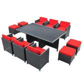 Found it at AllModern - Doubleback 11 Piece Outdoor Patio Dining Set with Cushions