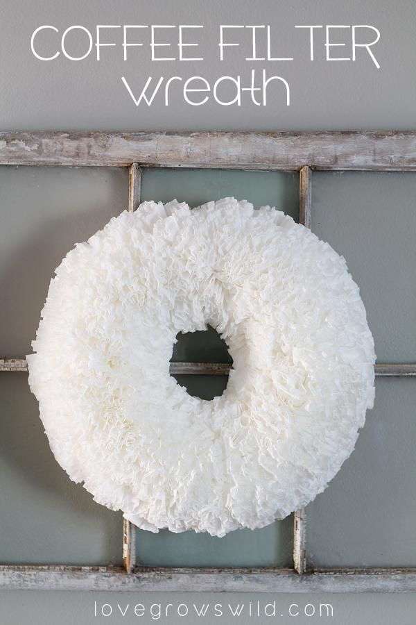 Coffee filter wreath, Coffee filters and Diy wreath on ...