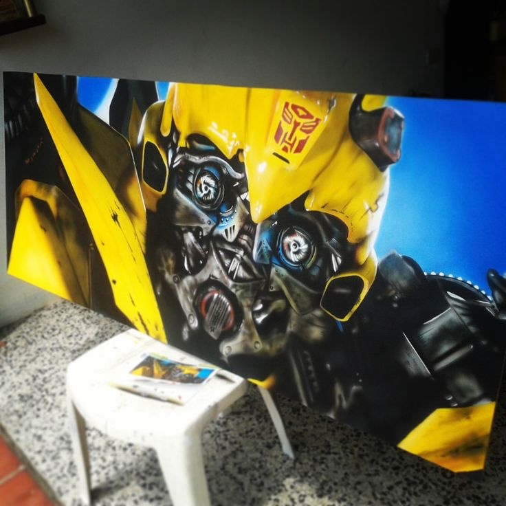 bumble bee! Airbrush