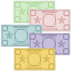 Printable Play Money For Kids- there are blank ones that can be personalized as well as ones with the denominations on them