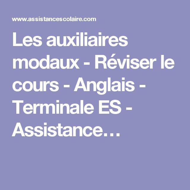 Les auxiliaires modaux - Réviser le cours - Anglais - Terminale ES - Assistance…