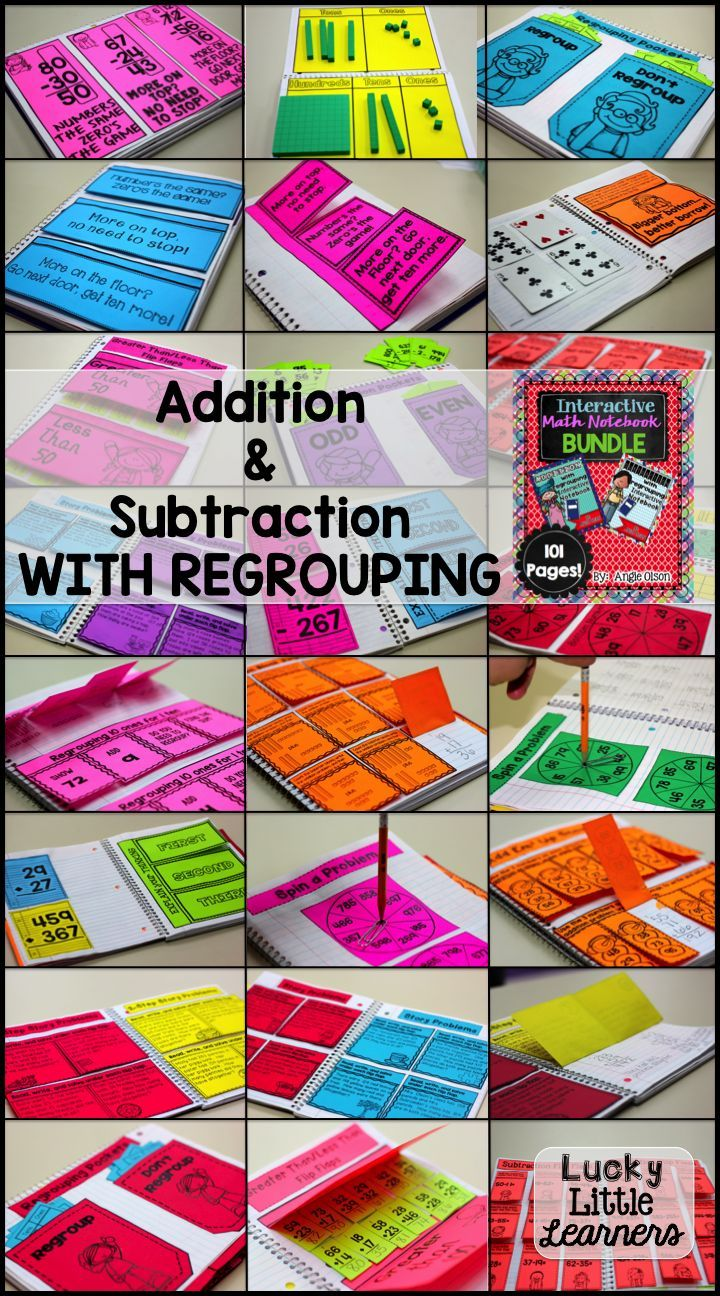 This interactive math notebook features addition and subtraction with regrouping.  It's perfect for 2nd and 3rd graders.  It includes over 100 pages of quality interactive activities that will provide opportunities for differentiation.  This product also