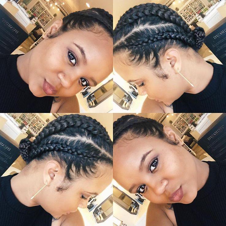 "Protective Natural Hair Styles on Instagram: ""By @_hairwifey sucka for cornrows  just trying different protective styles for now... Trying to decide what I'm going to rock for labor lol ... """