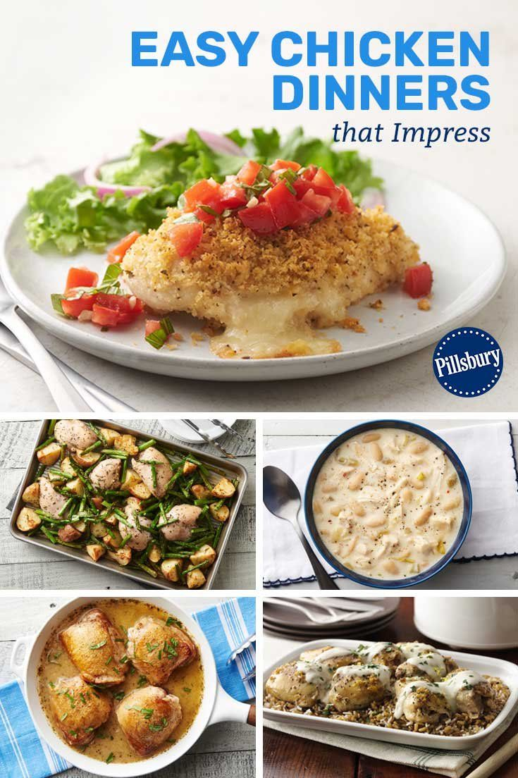 12 Easy Chicken Dinners That Impress Night Dinner Recipes Dinner Impressive Recipes