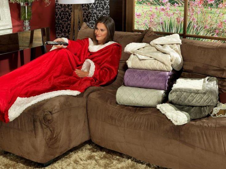 Cobertor com mangas de sof avulsa com efeito pele de - Cobertor para sofa ...