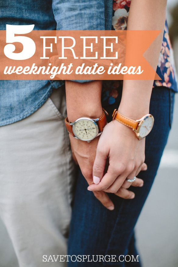 Leave the phones and computers behind and reconnect after long day at work! Here are 5 nearly- free weeknight date ideas that are low-key and break up the usual routine.