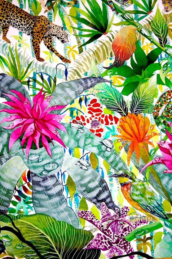 Jungle Imaginings close up II - Kate Morgan - Artist