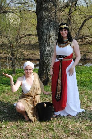 Cleopatra and slave girl, made 2010