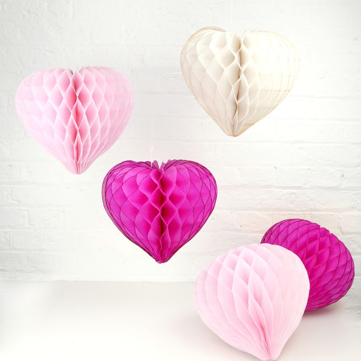Honeycomb Balls Decoration 60 Best Valentine's Day Heart Honeycomb Decorations Images On