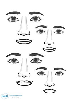Blank Face Templates 77 Best Thema Lichaam Images On Pinterest  Human Body Parts Of The .