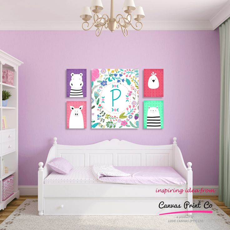 Kid's rooms can be so much fun to decorate and we just love the idea of a monogram canvas print. Hang it on its own or group it with a few cuddly critters in a matching colour scheme.  https://www.facebook.com/CanvasPrintCo/  #canvas #kidsdecor #kidscanvasprints