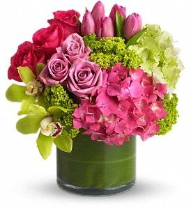 Simple arrangement for tables. I don't like all the flowers (roses, tulips) but good colors. $112