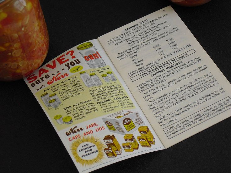 Vintage Kerr Home Canning and Freezing Guide, Wide Mouth Mason, 1960s Advertising Booklet, How To Guide for Freezing and Canning, Reference by AgsVintageCove on Etsy