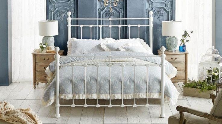 Waterford Queen Bed - White - Beds & Suites - Bedroom - Beds & Manchester | Harvey Norman Australia