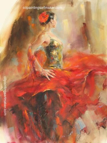 Anna Razumovskaya Gypsy Dancer painting outlet, painting - $87.00