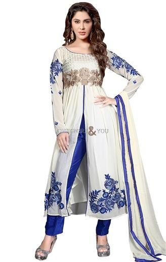 Straight cut a-line styles pakistani salwar kameez design for slim look #Pakistani Trends #Style #Fashion #Modern #Good Collection #Pakistani Dress #Designer #Beauty #Embroidered