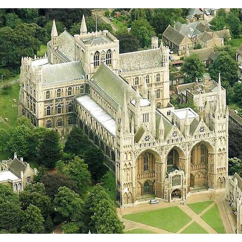 Peterborough Cathedral, Peterborough, England - burial place of Catherine of Aragon (first wife of Henry VIII)