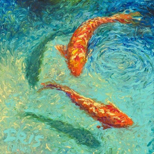 Iris Scott - Finger painting