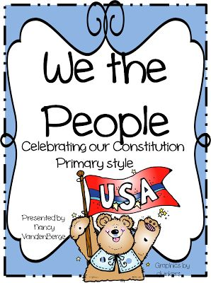 First Grade Wow: Constitution Day we will read the book we the kids and do this activity 2013