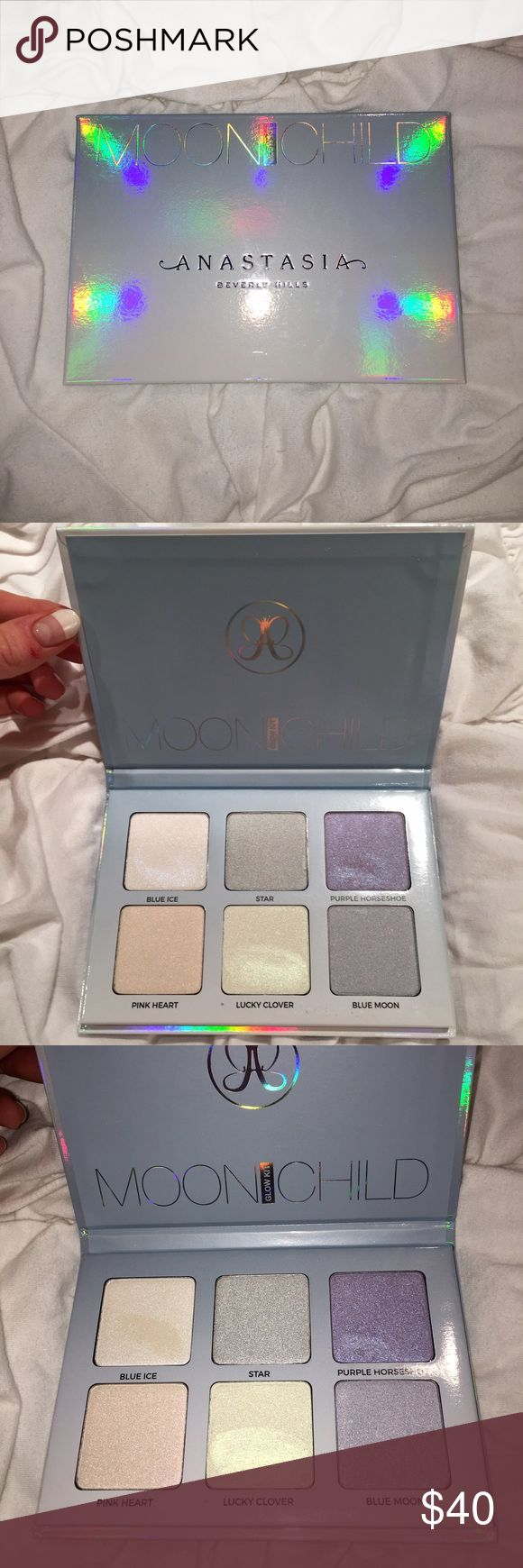 ANASTASIA MOON CHILD PALETTE!!! ANASTASIA MOON CHILD PALETTE!!! Brand new - tested 3 of the 6 colors once! Anastasia Beverly Hills Makeup