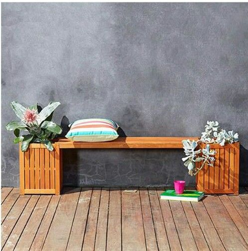 Bench and planters from Kmart