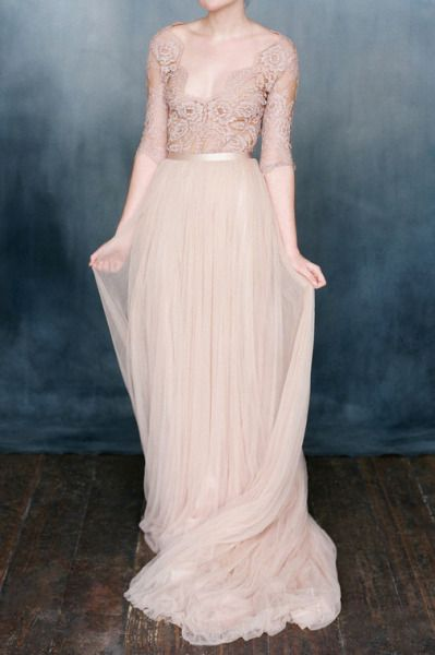 Gorgeous sleeved gown