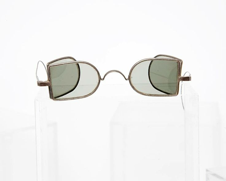 19th century English folding coachman's sunglasses from General Eyewear's historical collection.