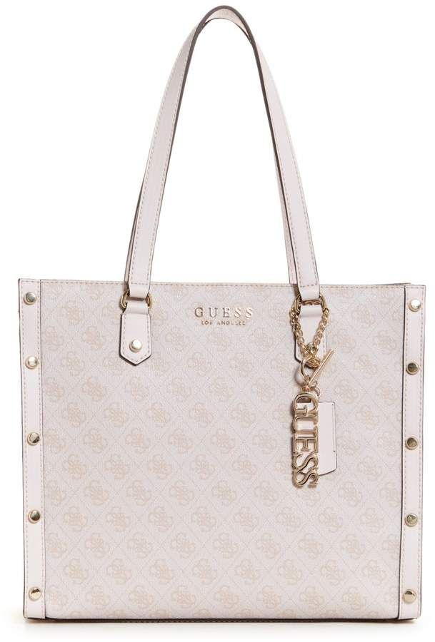 d218e62fe1 GUESS Florence Studded Logo Tote