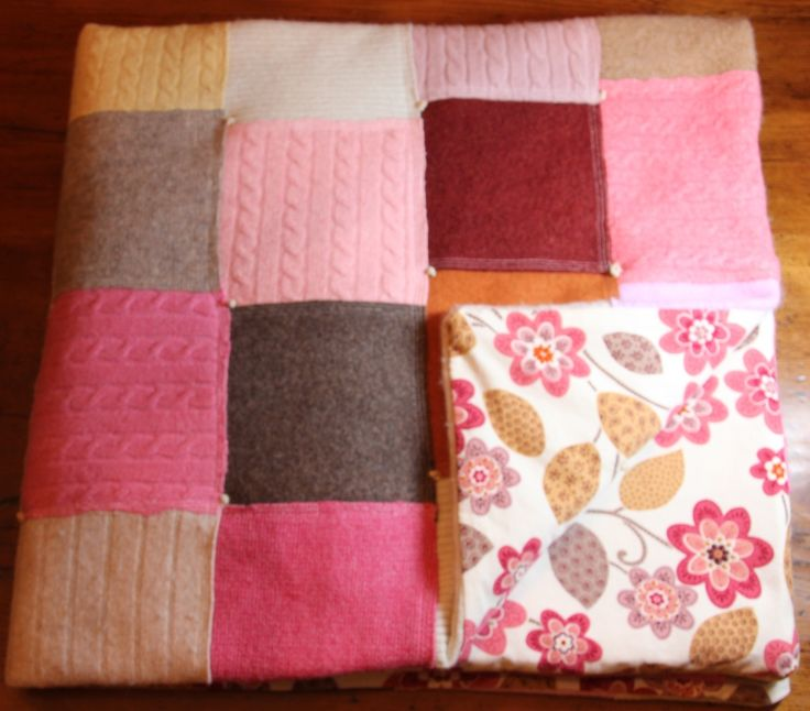 Quilt From Recycled Felted Sweaters Sewing Pinterest