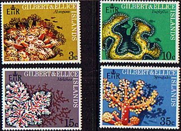 Gilbert and Ellice Islands 1972 Coral Set Fine Mint SG 199/202 Scott Other Pacific Islands Stamps HERE