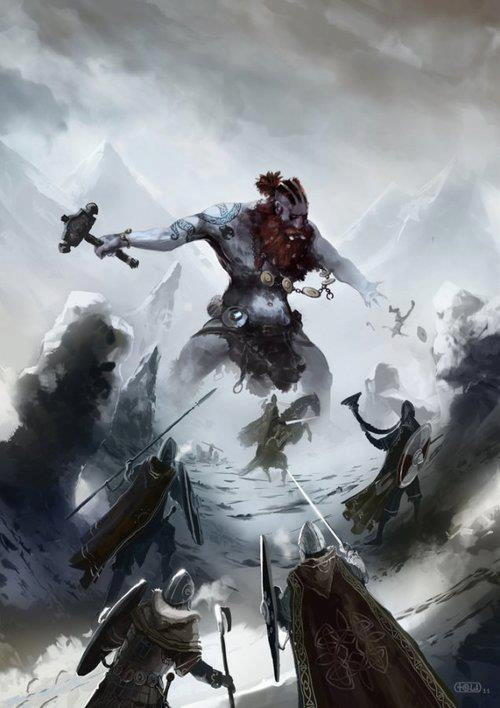 Viking Battle Painting Battle with a frost gi...