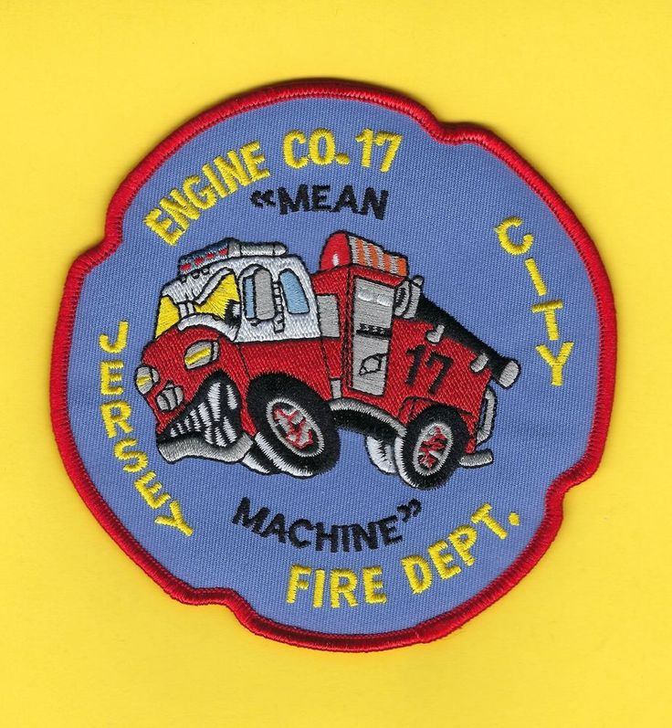 JERSEY CITY FIRE DEPARTMENT ENGINE 17 COMPANY PATCH ~ THE MEAN MACHINE ~ L@@K