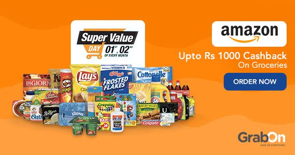 Make the most of #Amazon Super Value Day, save on #grocery shopping.  #cashback #coupon #onlineshopping