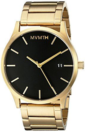 MVMT Watches make for awwesome fathers day gifts! This Gold Case with Gold Stainless Steel Bracelet Men's Watch would look great on my dads wrist.