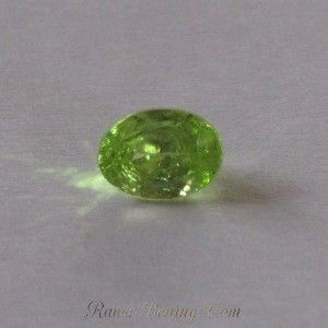 Natural Green Oval Peridot 0.8 cts