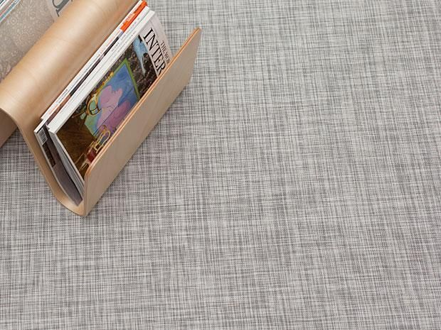 Ikat Floor Mat   White/Silver
