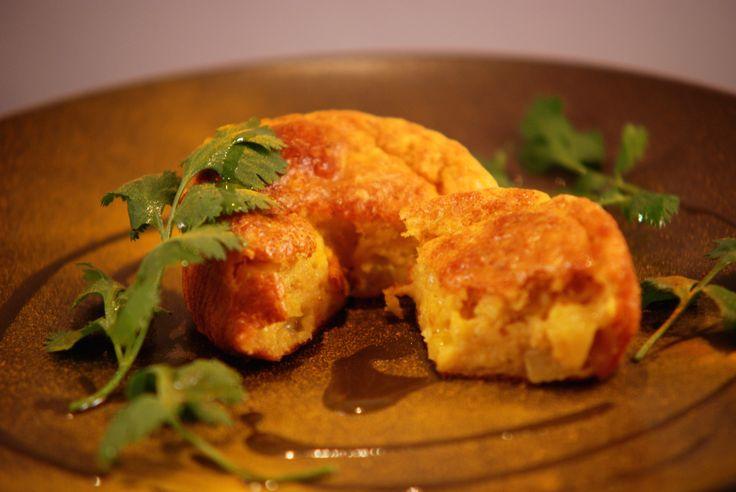 """Cake moelleux au crabe et à l'ananas (Menu """"Noël au soleil... sous les cocotiers !"""")"""