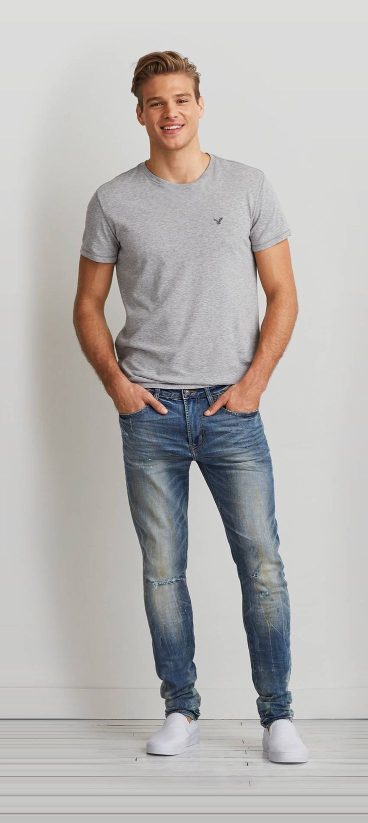 Black t shirt light blue jeans - Find Every Men S Jeans Fit And Wash You Ll Love From American Eagle
