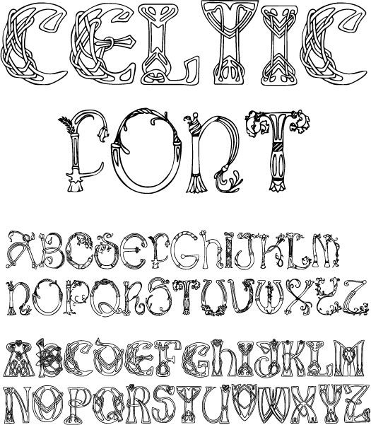 Celtic font sample calligraphy fonts pinterest