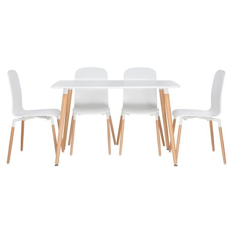 Frankie Dining 5 Piece Package  White