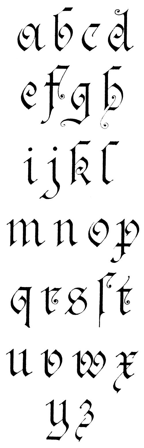 Gothic Lettering :: German Gothic - Lower Case