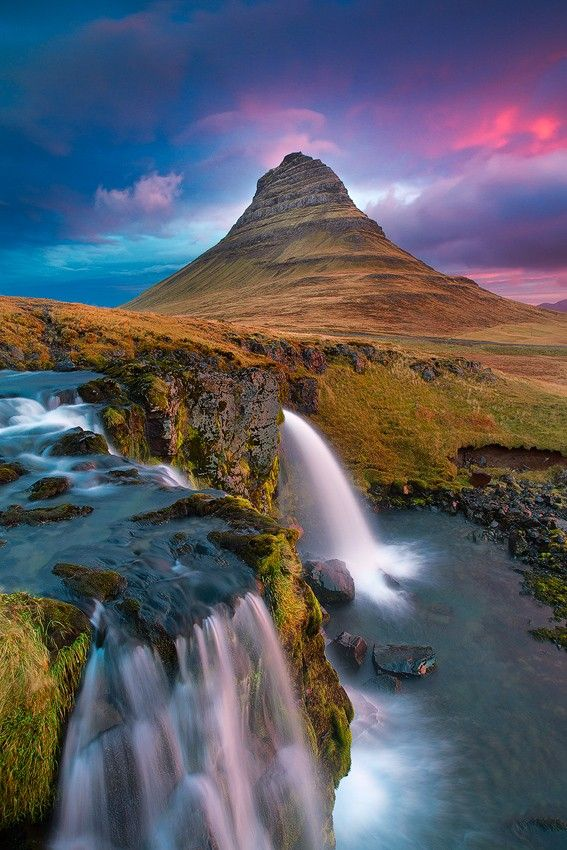 ~~Mount Kirkjufell • classic view of Mount Kirkjufell, Snaefellsnes Peninsula, Iceland • by Vincenzo Mazza~~