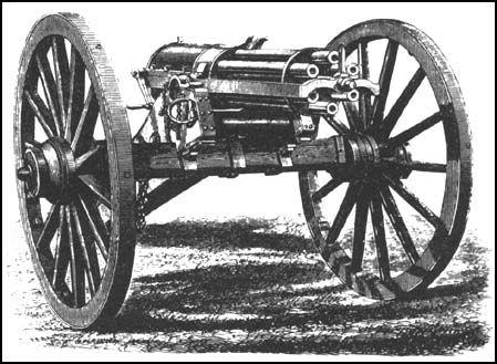 Gatling gun.  Miniature Figurines 1CA.