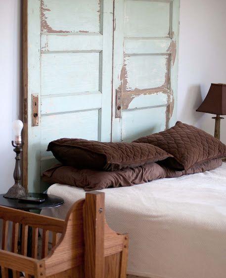 how to make old doors into headboards door headboard refinish an old door for an inexpensive. Black Bedroom Furniture Sets. Home Design Ideas