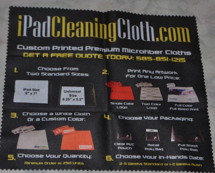 Custom Printed iPad Cleaning Cloth Product Review