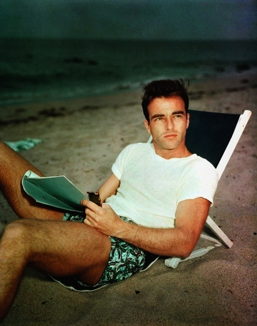 Montgomery Clift - pre- accident, with a beautiful boyish face. Although he had successful plastic surgery after a devastating car accident, he never regained his boyish look completely. His characters in his acting became more layered and robust though, as the focus on his looks diminished.