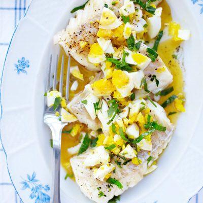 Torsk med ägg och brynt smör